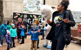 See Amani Weary, 13, teach the Yeti Stomp during FestivICE in York City, Saturday, Jan. 19, 2019.