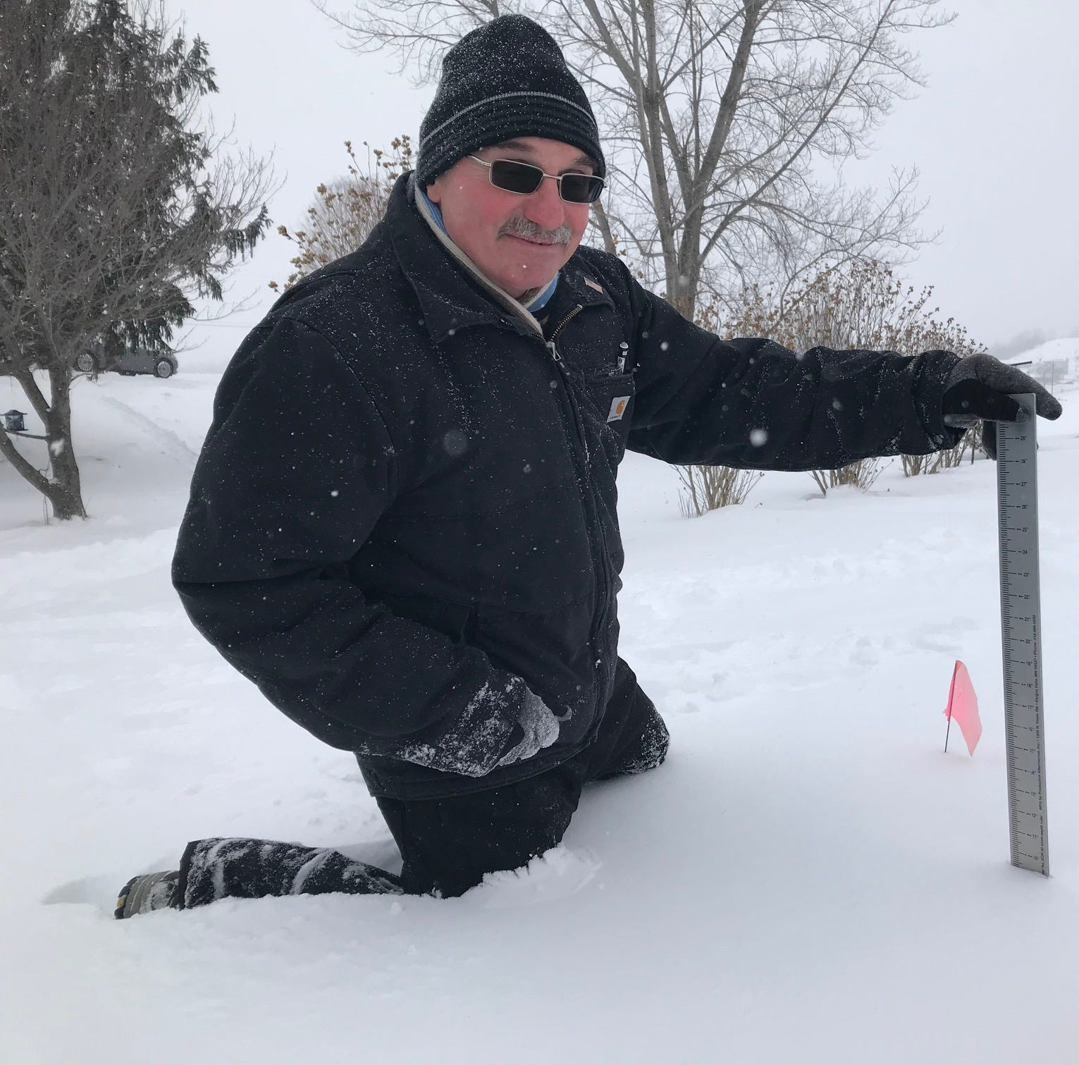 How do we really know how much it snowed? Thank snow spotters like Lloyd Durfey