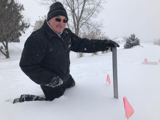 Lloyd Durfey, a snow spotter from Palmyra, Wayne County. He records are picked up by the National Weather Service.