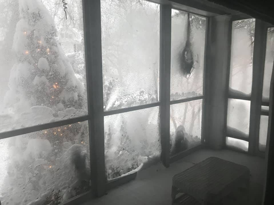 Inside a screened front porch in Irondequoit. Photo by Kelly Suzanne.