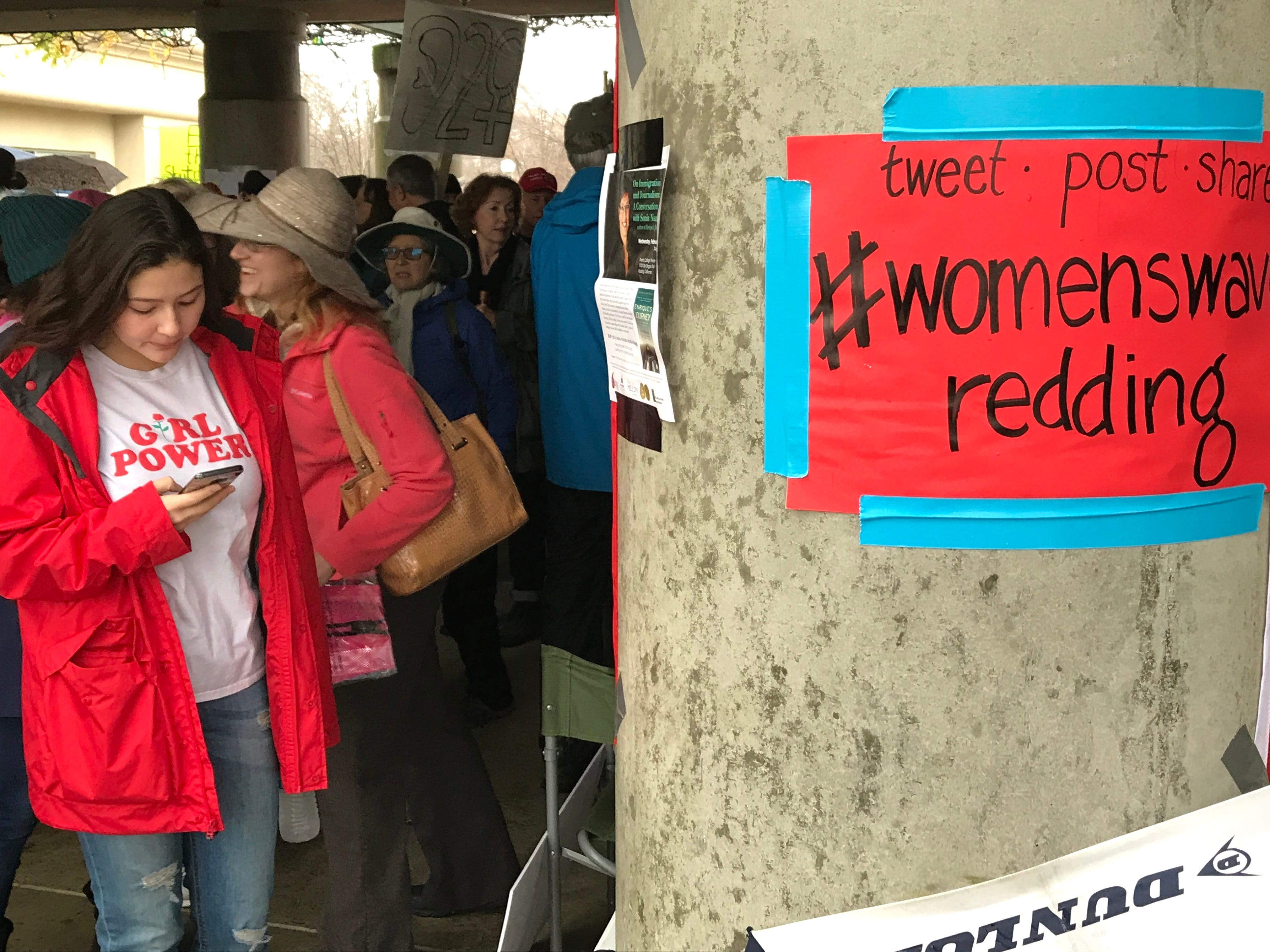 Girl Power was part of the 2019 Women's March in Redding.