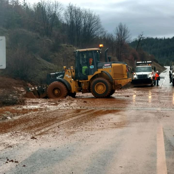 Mudslides reported on Highway 299 west of Weaverville