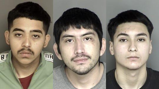 Left to right: Eduardo Melgoza, 18, Ivan Manriquez, 23, and Andres Lopez, 18.