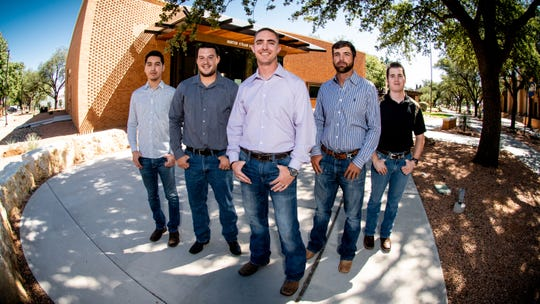 Luis Lozano, Matthew Holmes, Caleb Miller, Ty Lee and Deyton Riddle were the first five students to graduate from ASU's David L. Hirschfeld Department of Engineering during the fall of 2018.