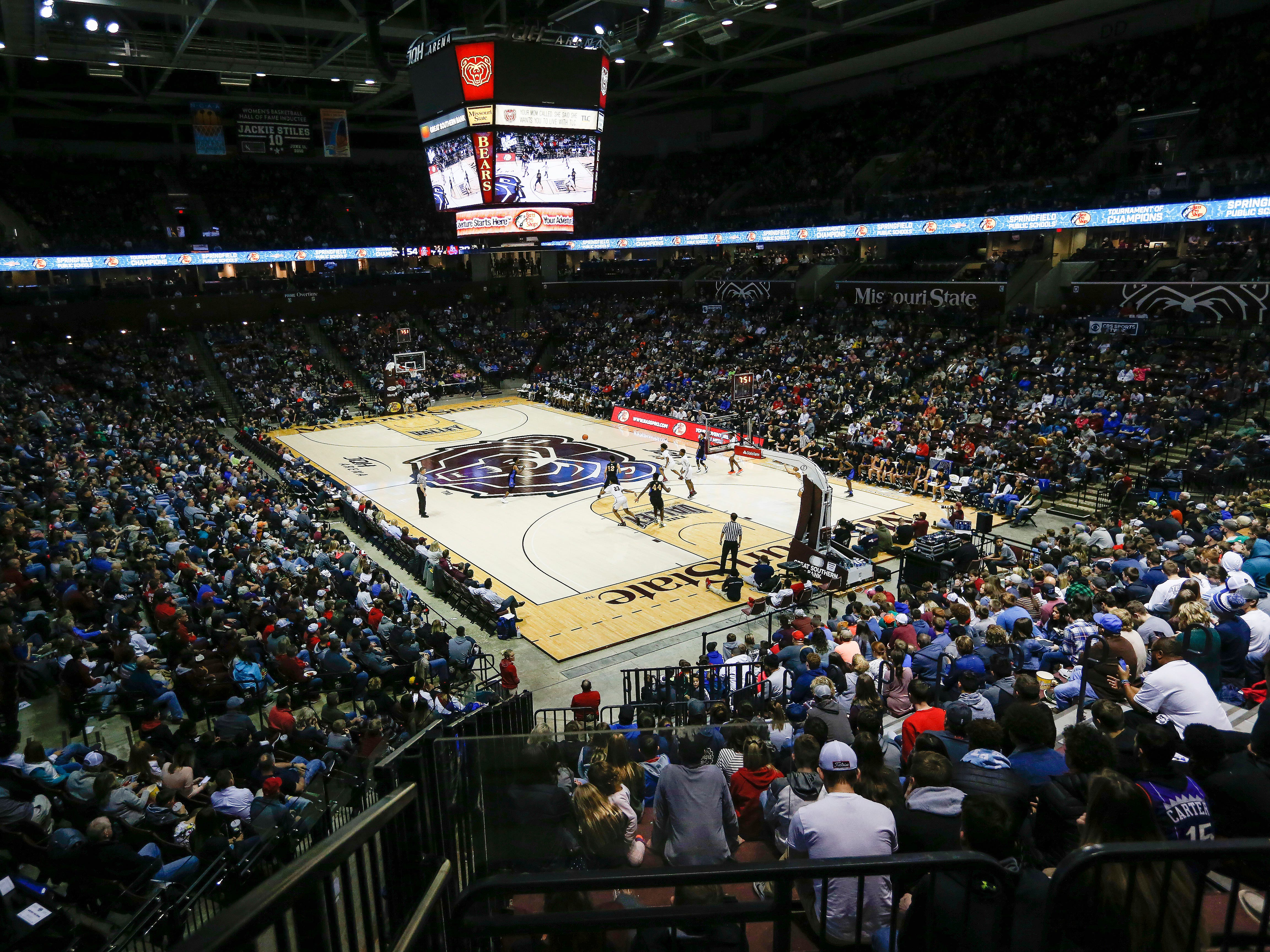 JQH Arena was packed for the Bass Pro Shops Tournament of Champions on Saturday, Jan. 19, 2019.