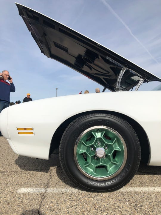 The honeycomb wheels on Ron Serab's 1970 Pontiac Thunderbird Formula 400