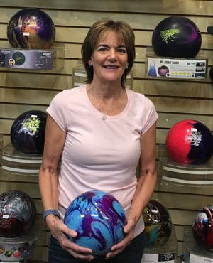 Kim Finnegan rolled 18 strikes on her way to a career-high 615 series last week.