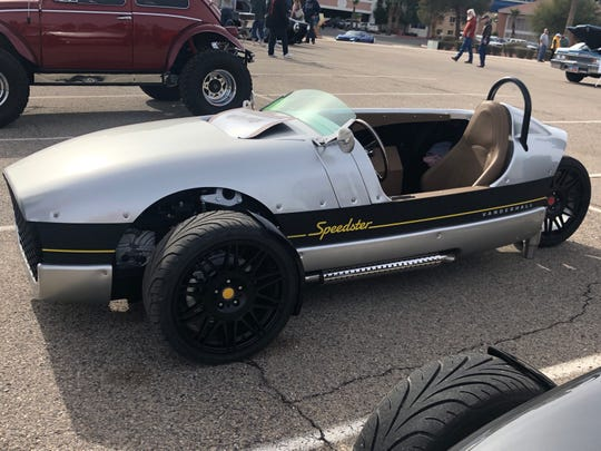 Classified as a motorcycle, the Vanderhall Venice Speedster made an appearance at the 2019 Mesquite Motor Mania car show