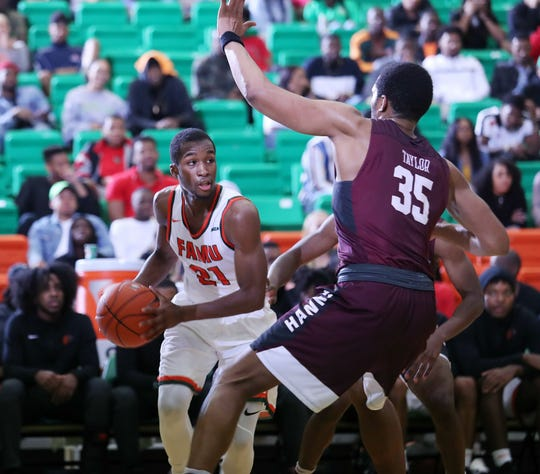 FAMU guard Justin Ravenel had a game-high 18 points in a losing effort versus Maryland Eastern Shore on Saturday, Jan. 19 at the Al Lawson Center.