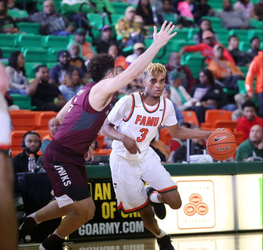 FAMU guard M.J. Randolph scored eight points in a 60-58 loss in overtime to Maryland Eastern Shore on Saturday, Jan. 19 at the Al Lawson Multipurpose Center.