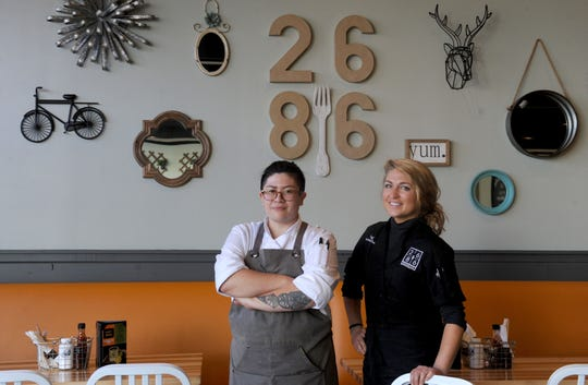 "At 2686 Kitchen in Ventura, newly named executive chef Jacky Bui, left, has joined a culinary team that includes pastry chef Anastashia Chavez, right. ""(We) are really excited to be in these positions together here,"" says Bui, who last week launched the restaurant's first weekend brunch menu."