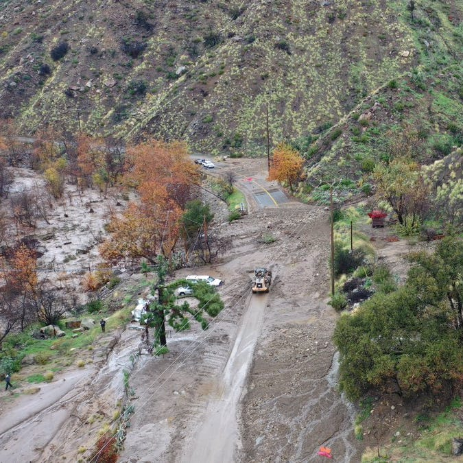 Highway 33 closure above Ojai lingers this week as crews clear off mud