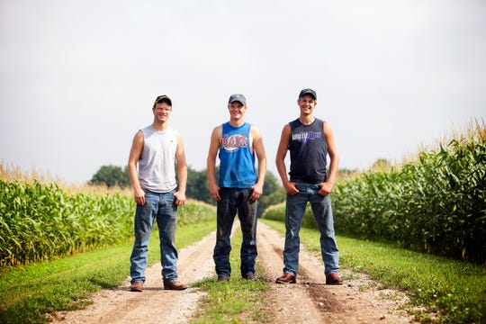 The Peterson Farm Bros, (from left) Greg, Nathan and Kendall, from central Kansas, advocate for agriculture through videos, social media and speaking engagements.