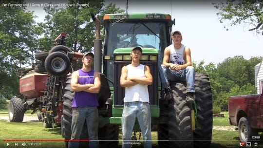 The Peterson Farm Bros sing in one of the first music parody videos they made in 2012.