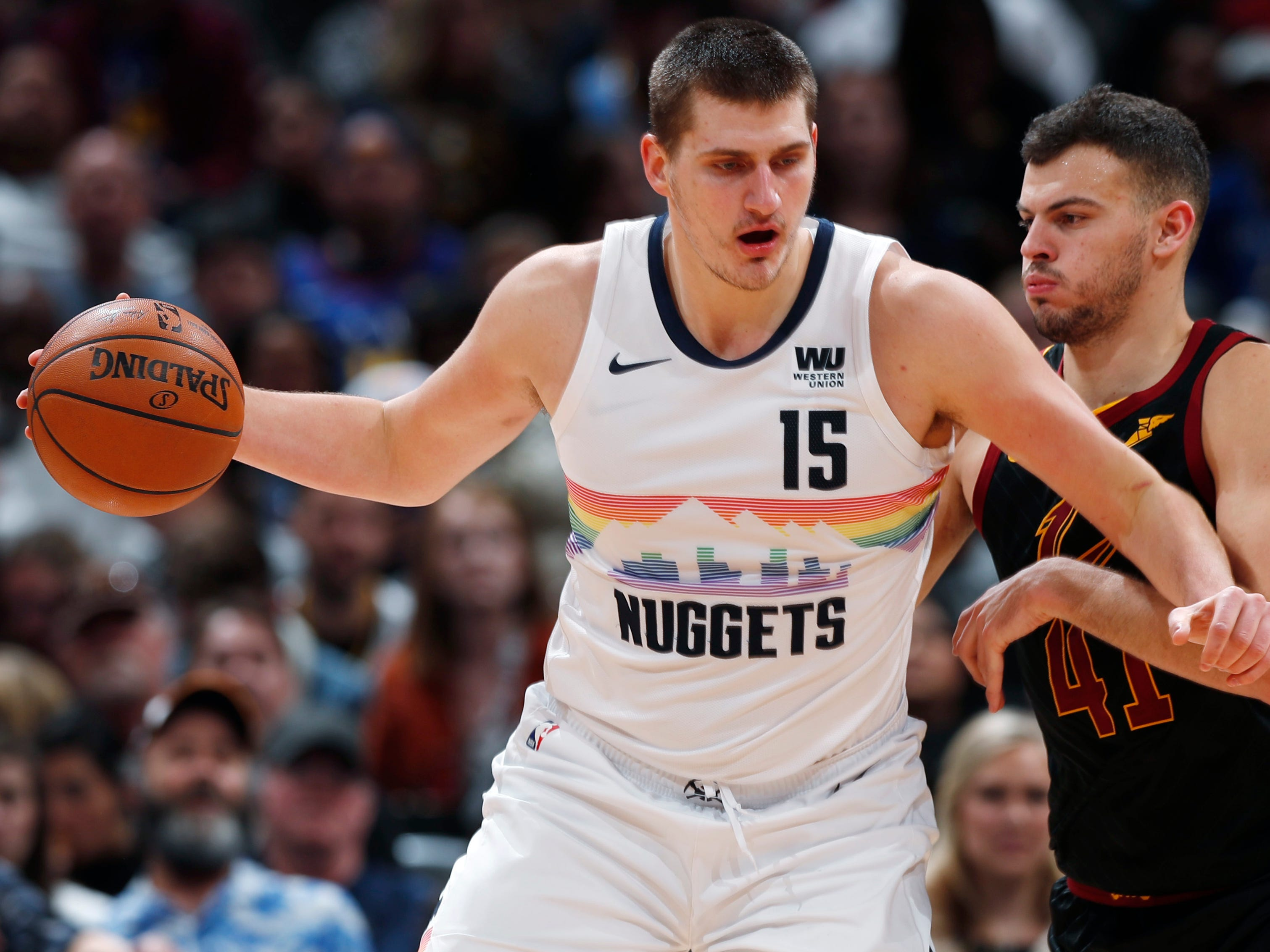 56. Nikola Jokic, Nuggets (Jan. 19): 19 points, 12 assists, 11 rebounds in 124-102 win over Cavaliers (sixth of season).