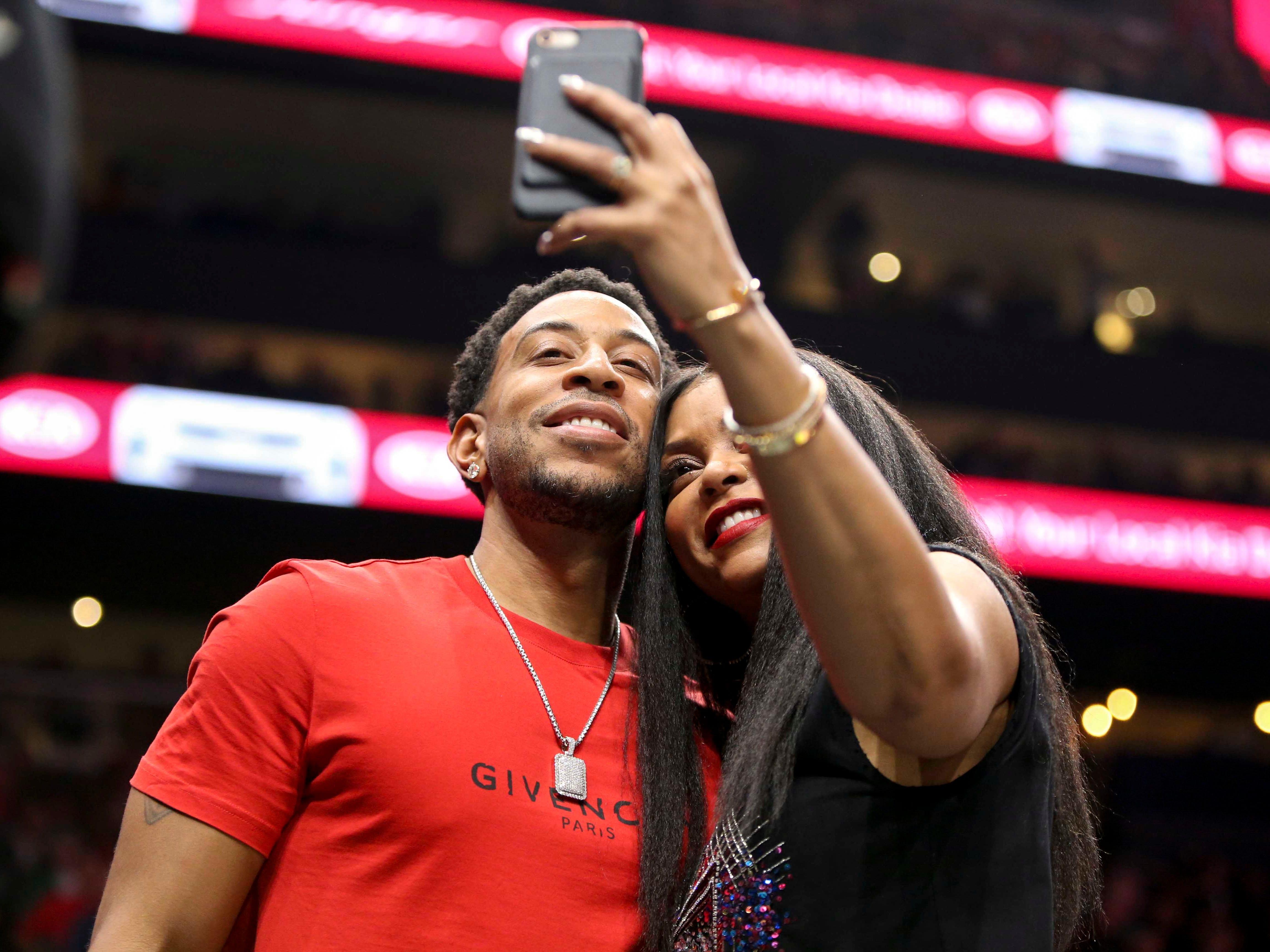 Jan. 19: Taraji P. Henson and Ludacris snap a quick selfie at the Hawks-Celtics game in Atlanta.