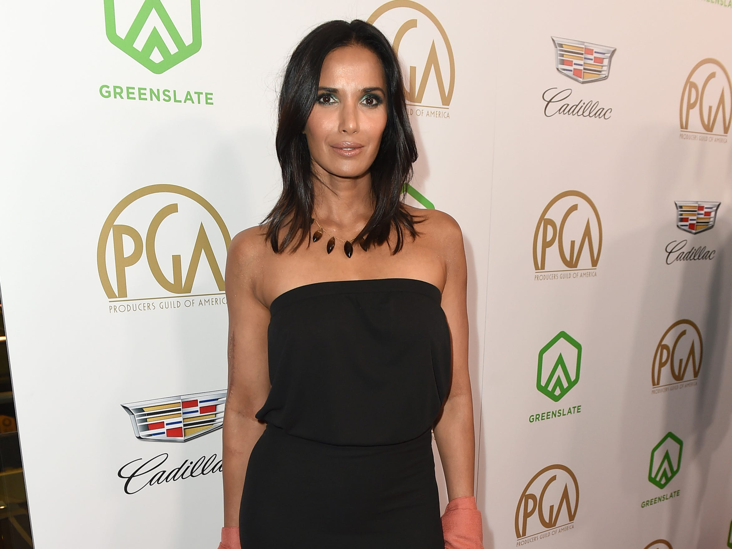 IMAGE DISTRIBUTED FOR PRODUCERS GUILD OF AMERICA - Padma Lakshmi arrives at the 30th Producers Guild Awards presented by Cadillac at the Beverly Hilton on Saturday, Jan. 19, 2019, in Beverly Hills, Calif. (Photo by Jordan Strauss/Invision for Producers Guild of America/AP Images) ORG XMIT: CALB106
