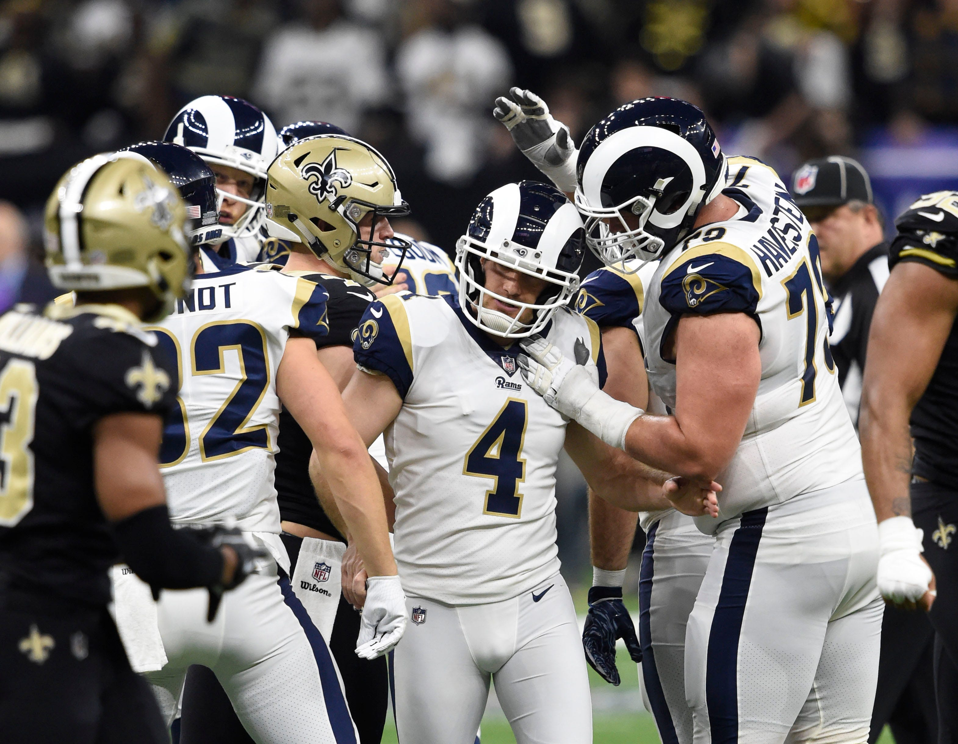 los angeles rams overcome superdome 39 s deafening noise to. Black Bedroom Furniture Sets. Home Design Ideas