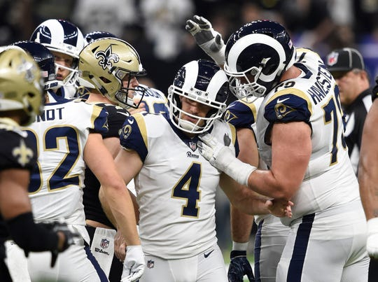 Los Angeles Rams kicker Greg Zuerlein (4)