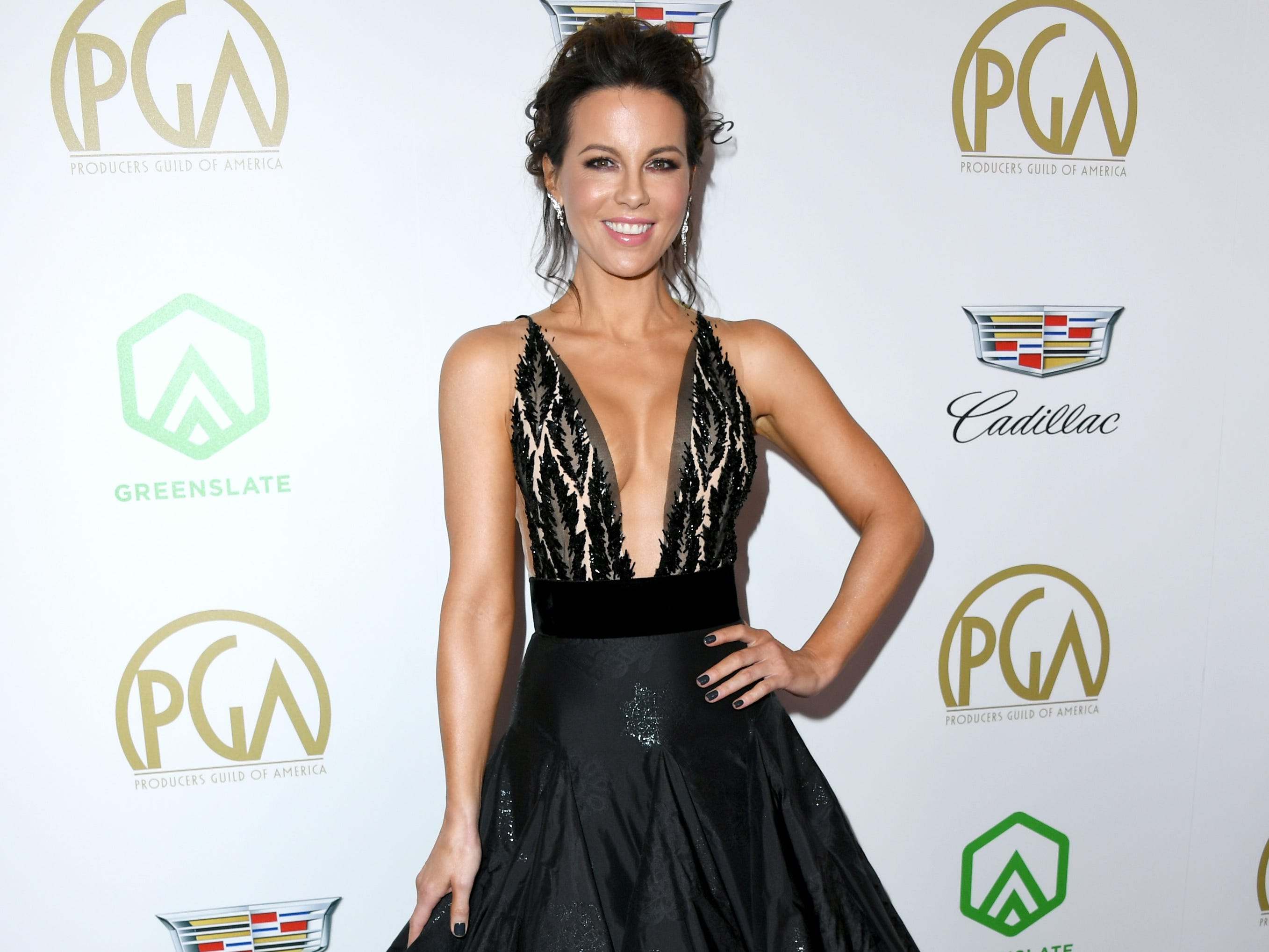 BEVERLY HILLS, CA - JANUARY 19:  Kate Beckinsale attends the 30th annual Producers Guild Awards at The Beverly Hilton Hotel on January 19, 2019 in Beverly Hills, California.  (Photo by Jon Kopaloff/FilmMagic) ORG XMIT: 775277375 ORIG FILE ID: 1085408886