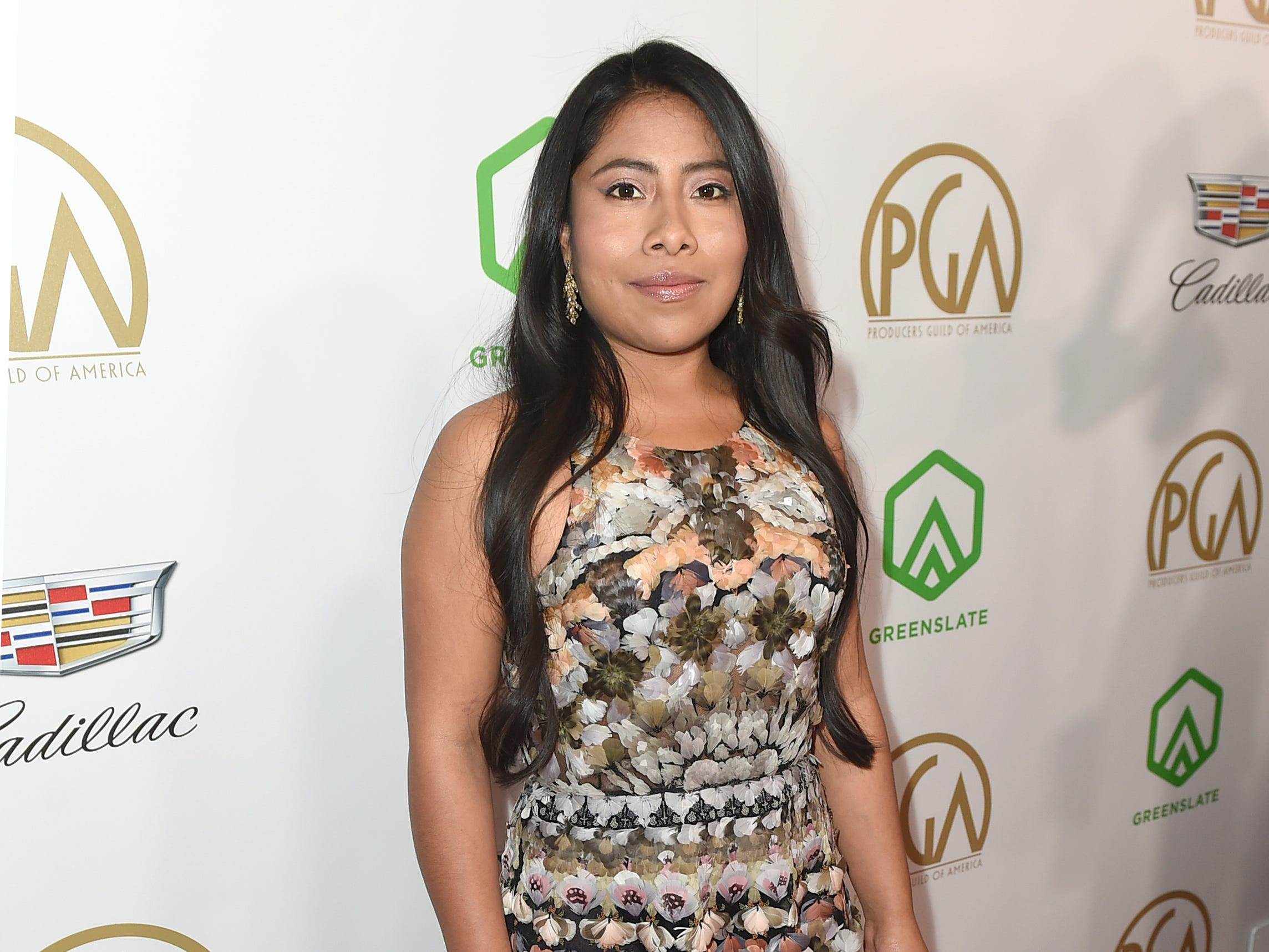 IMAGE DISTRIBUTED FOR PRODUCERS GUILD OF AMERICA - Yalitza Aparicio arrives at the 30th Producers Guild Awards presented by Cadillac at the Beverly Hilton on Saturday, Jan. 19, 2019, in Beverly Hills, Calif. (Photo by Jordan Strauss/Invision for Producers Guild of America/AP Images) ORG XMIT: CALB105