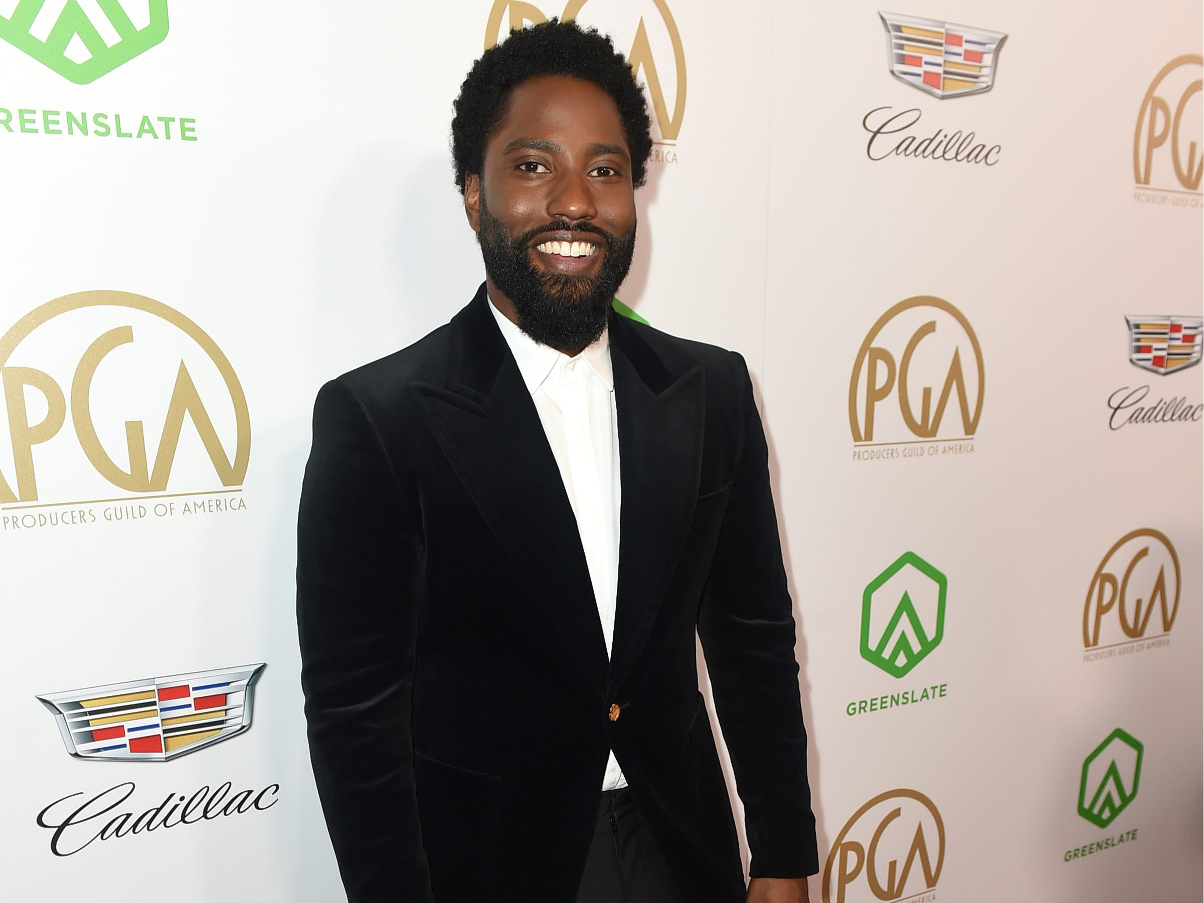 IMAGE DISTRIBUTED FOR PRODUCERS GUILD OF AMERICA - John David Washington arrives at the 30th Producers Guild Awards presented by Cadillac at the Beverly Hilton on Saturday, Jan. 19, 2019, in Beverly Hills, Calif. (Photo by Jordan Strauss/Invision for Producers Guild of America/AP Images) ORG XMIT: CALB109