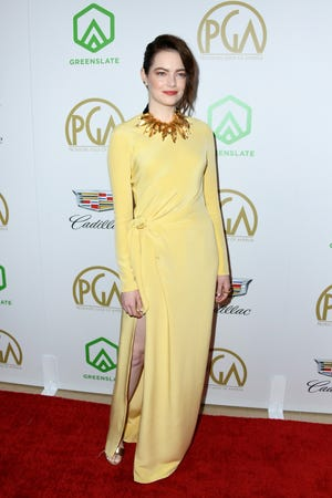 Emma Stone attends the Producers Guild Awards on Jan. 19, 2019, in Beverly Hills, California