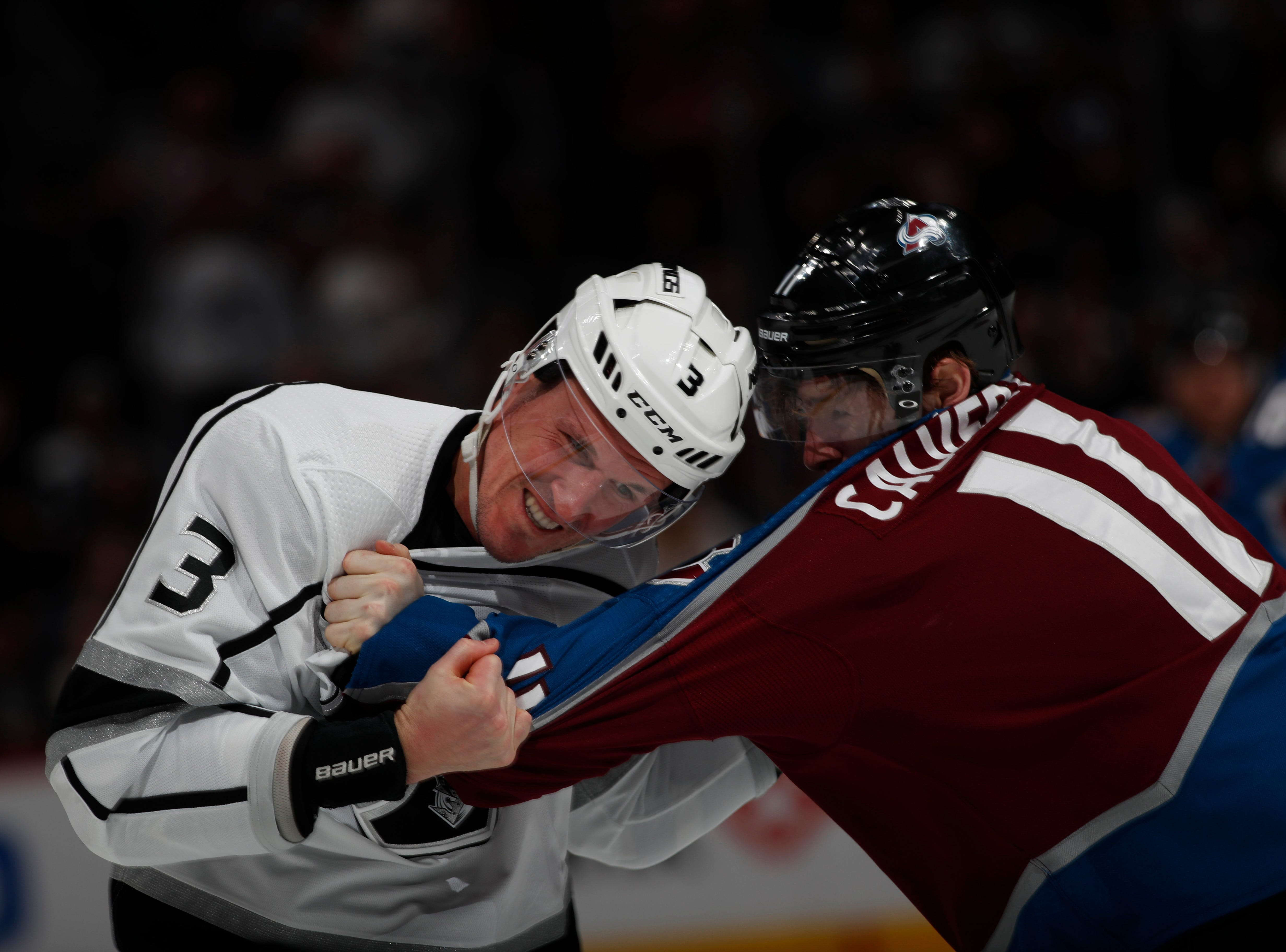Jan. 19: Los Angeles Kings' Dion Phaneuf vs. Colorado Avalanche's Matt Calvert.