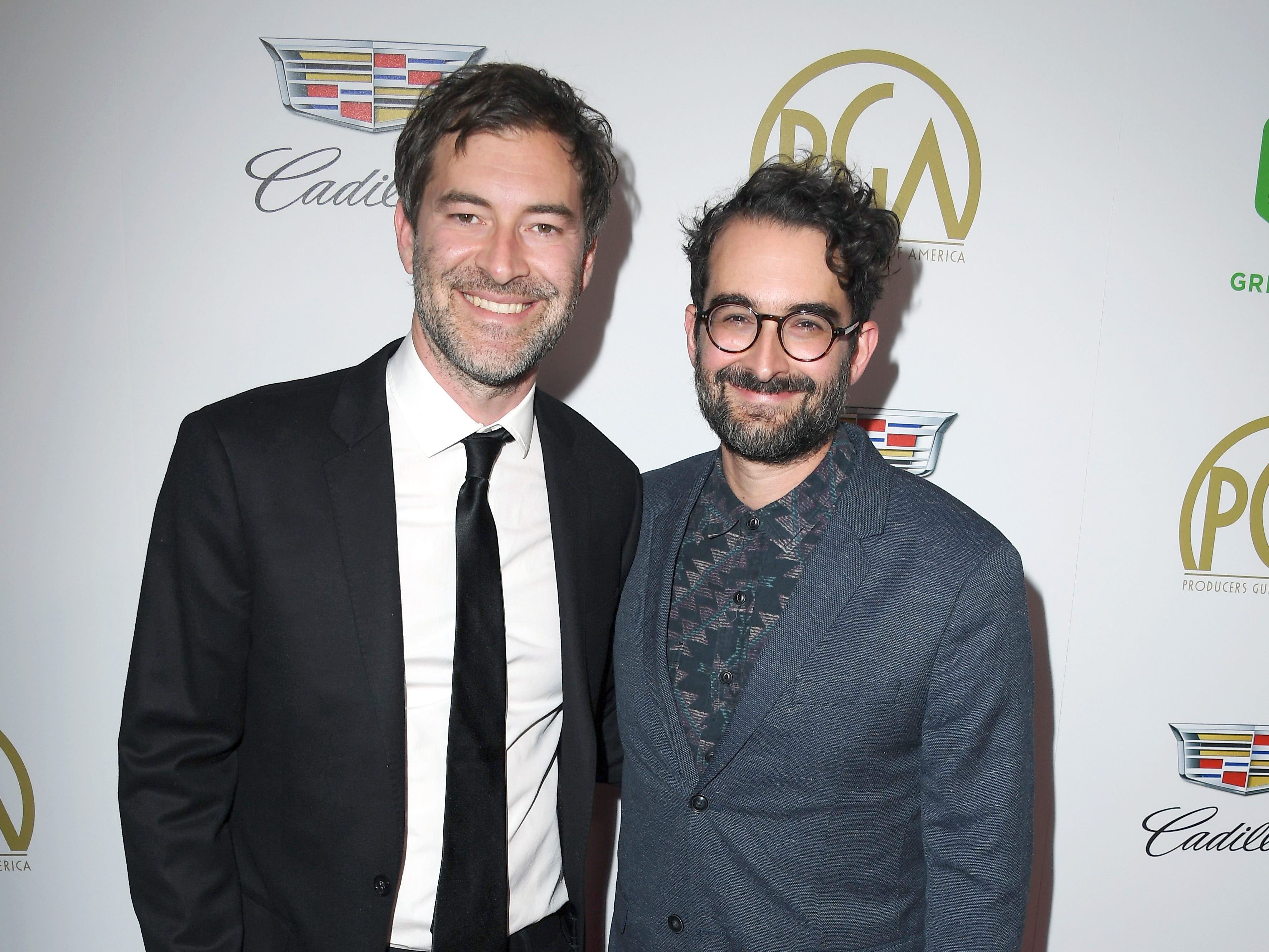 BEVERLY HILLS, CA - JANUARY 19:  Mark Duplass (L) and Jay Duplass attend the 30th annual Producers Guild Awards at The Beverly Hilton Hotel on January 19, 2019 in Beverly Hills, California.  (Photo by Steve Granitz/WireImage,) ORG XMIT: 775277375 ORIG FILE ID: 1085405320
