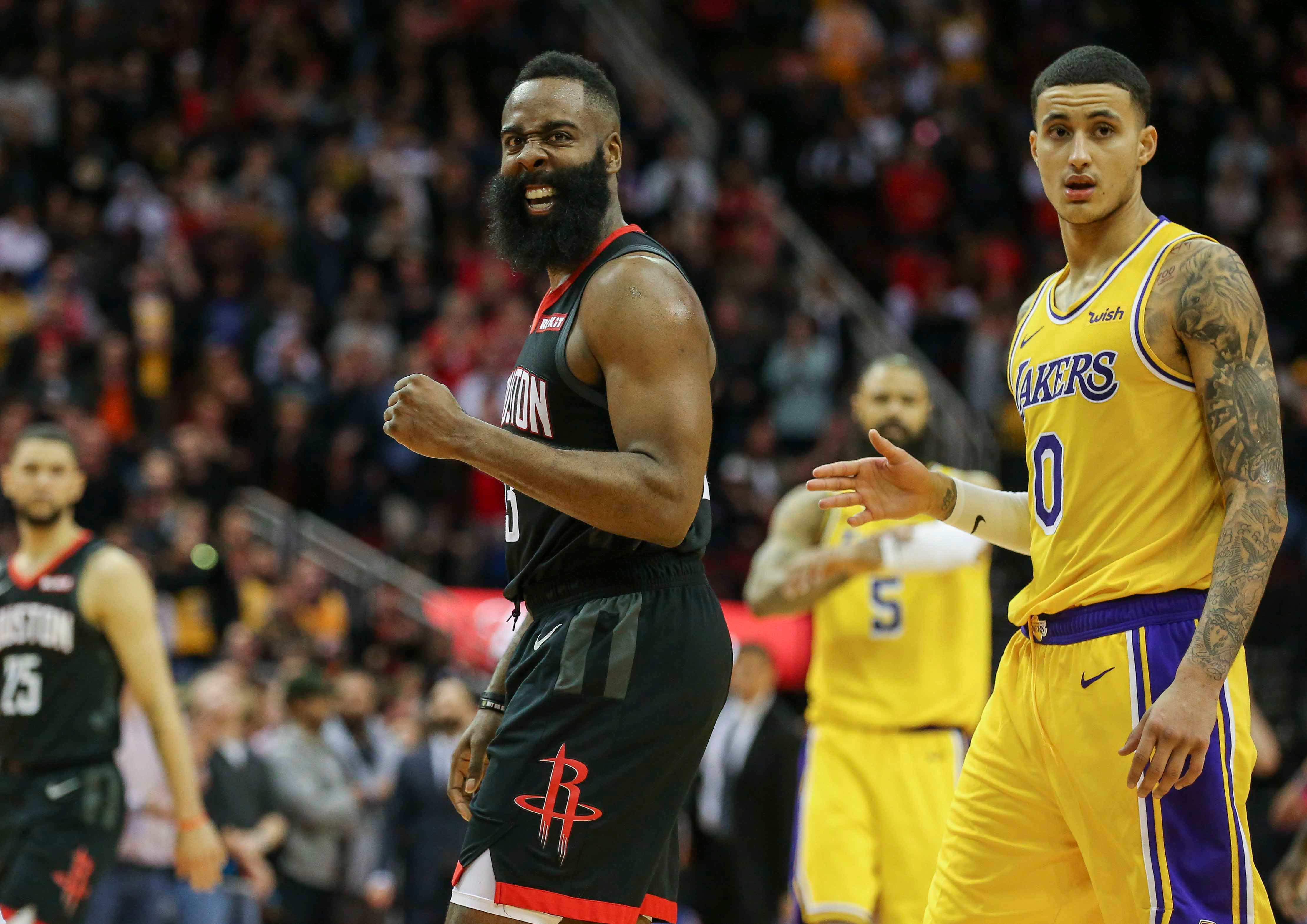 1b86d33e44c2 James Harden streches scoring streak in Rockets  win over Knicks