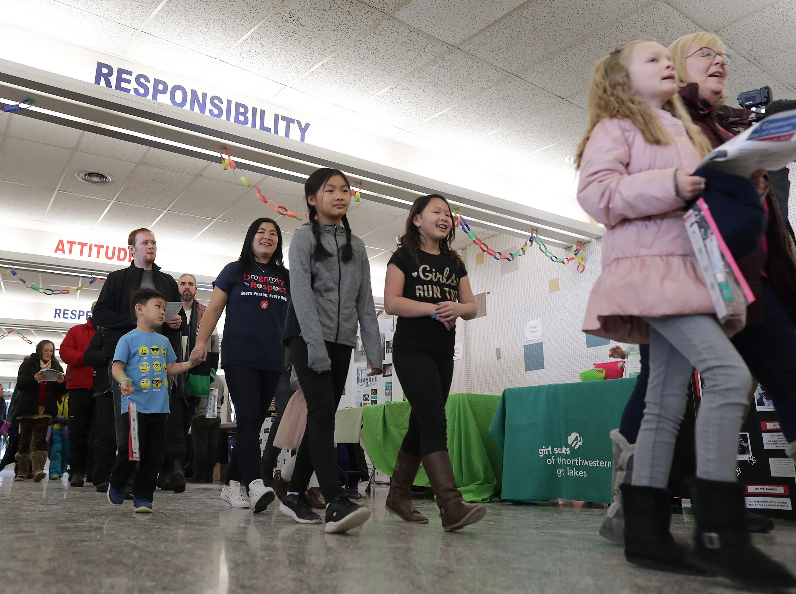 The first annual MLK Community Day of Service celebration on Monday, January 21, 2019, at Appleton East High School in Appleton, Wis.