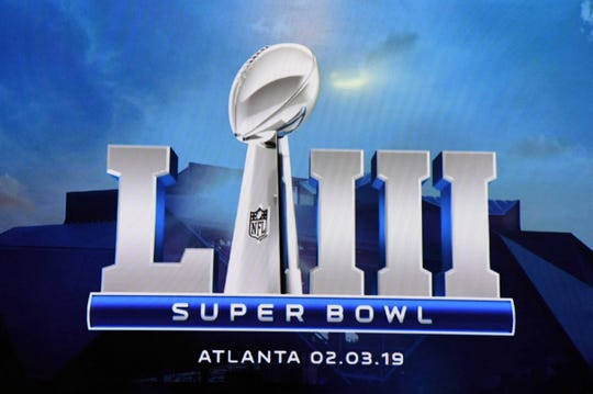 Super Bowl LIII logo.