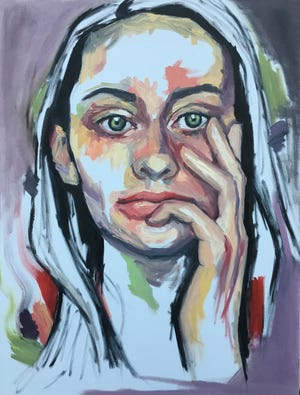 """Bremerton painter Madison Boewe's """"Thoughts of Everything and Nothing"""" is among the works in this year's competition."""