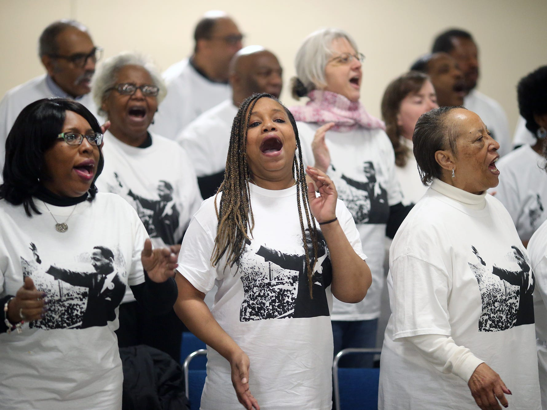 The MLK Community Choir  performs at the 25th annual Reverend Dr. Martin Luther King, Jr. celebration was held at PresidentsÕ Hall at the Kitsap County Fairgrounds on Monday, January, 21 , 2019.