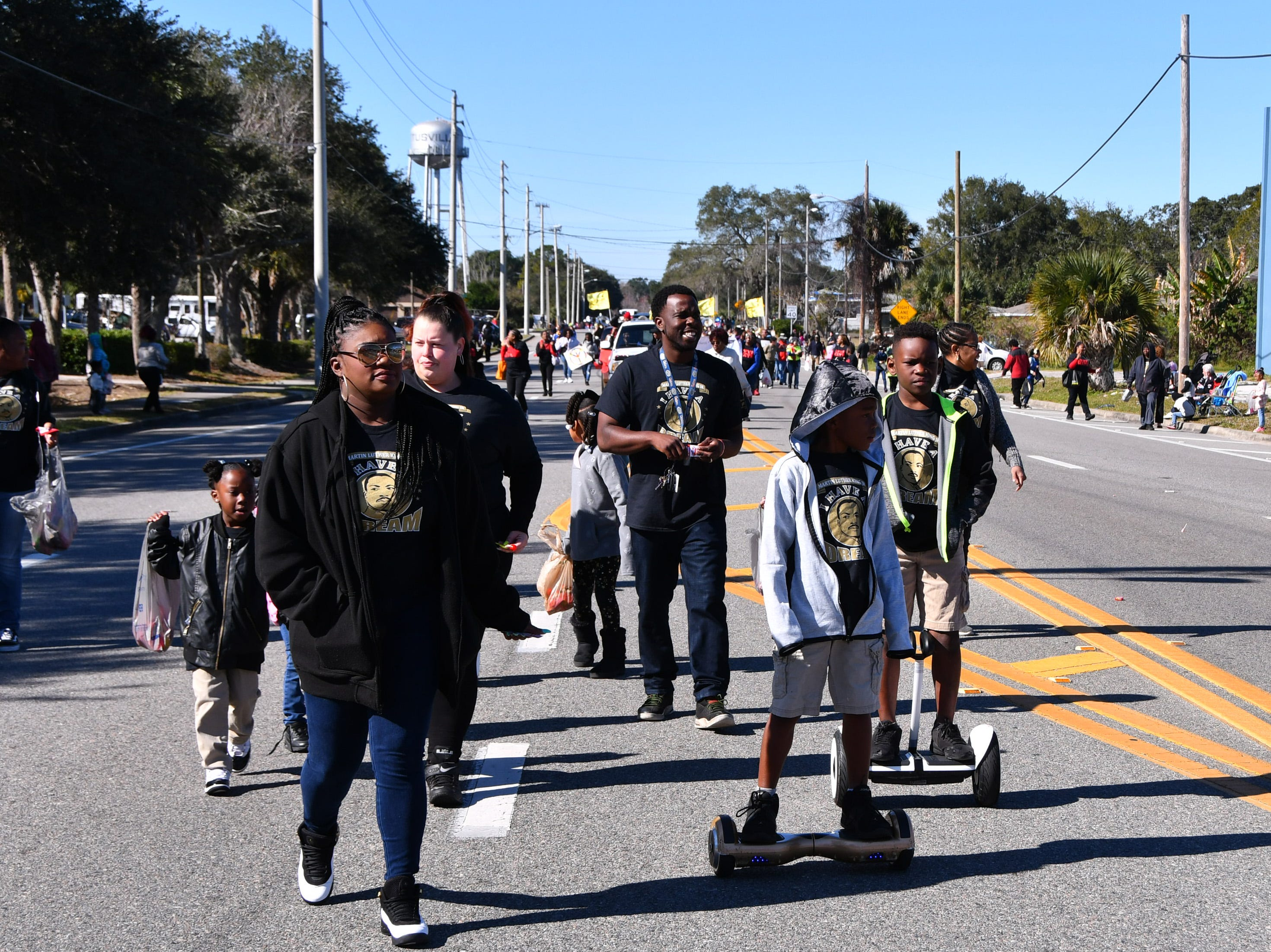 The North Brevard annual Dr. Martin Luther King Jr. Parade came east on South Street in Titusville at 11:00 a.m. , ending at the Heritage Festival with food and music  at Campbell Park in Titusville.