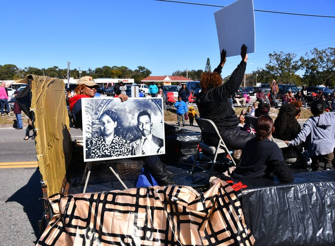 The annual Dr. Martin Luther King Jr. parade headed east on South Street in Titusville, ending at the Heritage Festival with food and music at Campbell Park.