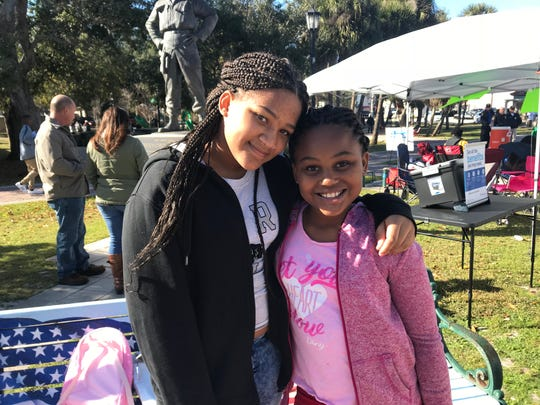 K'Lani Baccus and Jayla Walker are grateful to Dr. Martin Luther King for what he did to bring communities together. They spent Monday's holiday in Cocoa Riverfront Park celebrating King's legacy.