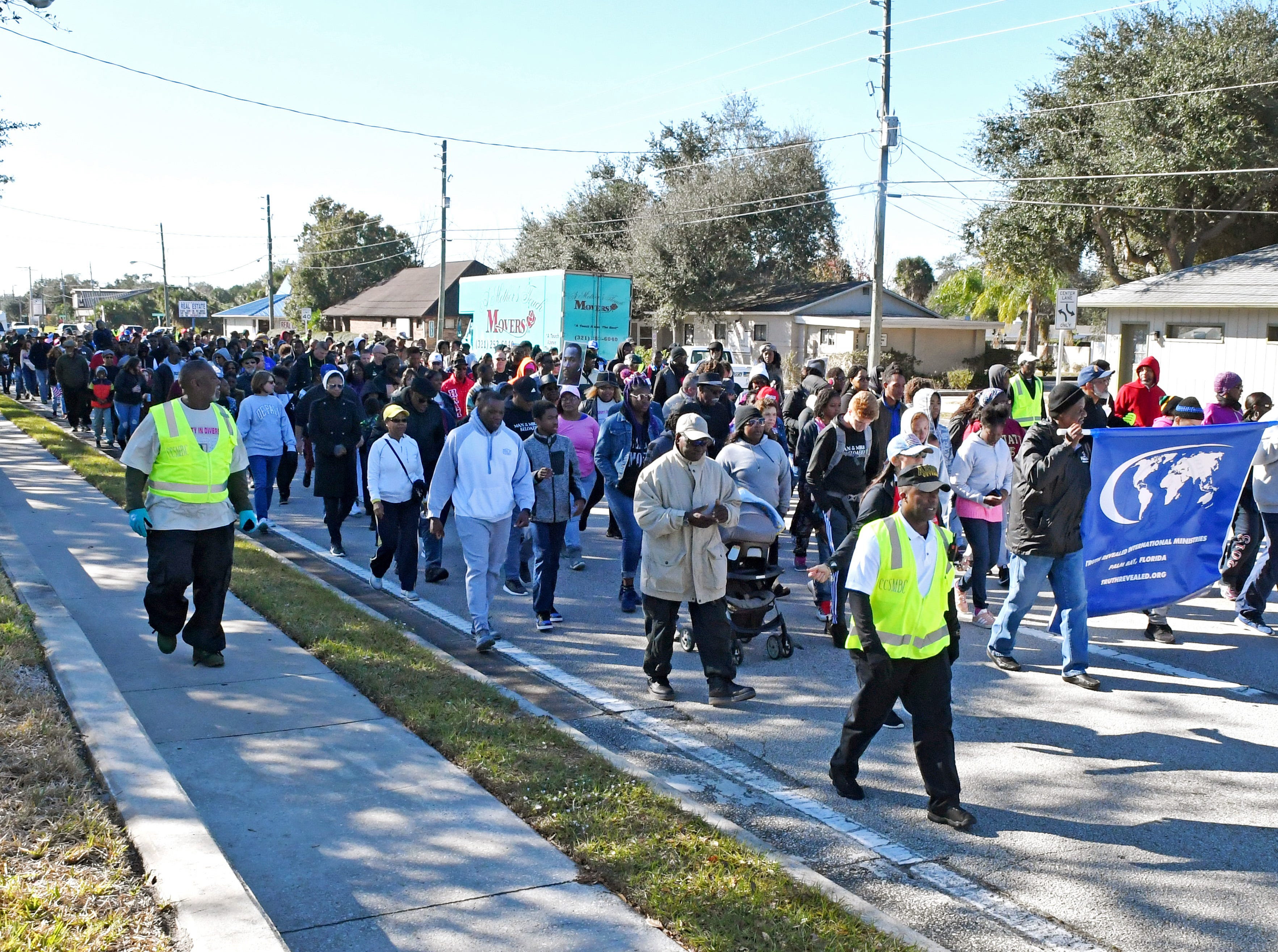 The 33rd year for the Melbourne, Fl. MLK Peace March, hosted by the Martin Luther King, Jr. Coalition, was held Monday morning.