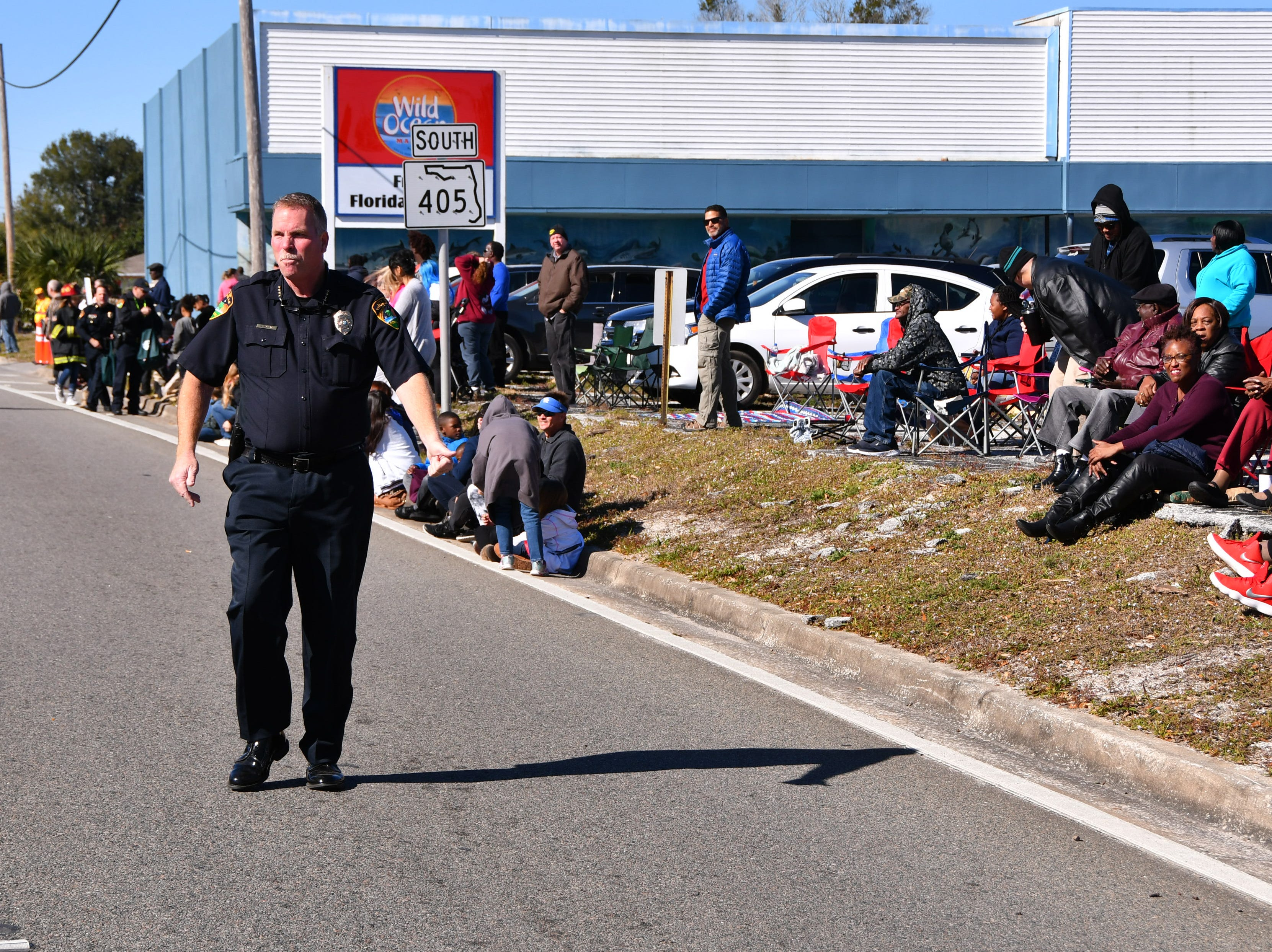 The North Brevard annual Dr. Martin Luther King Jr. Parade came east on South Street in Titusville at 11:00 a.m. , ending at the Heritage Festival with food and music  at Campbell Park in Titusville. Police Chief John Lau walked the parade greeting everyone as he went.