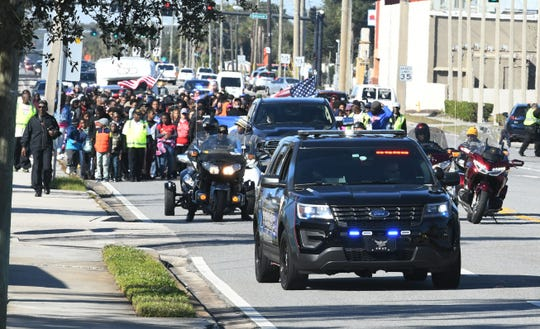 Melbourne's 33rd annual MLK peach march took place in January.