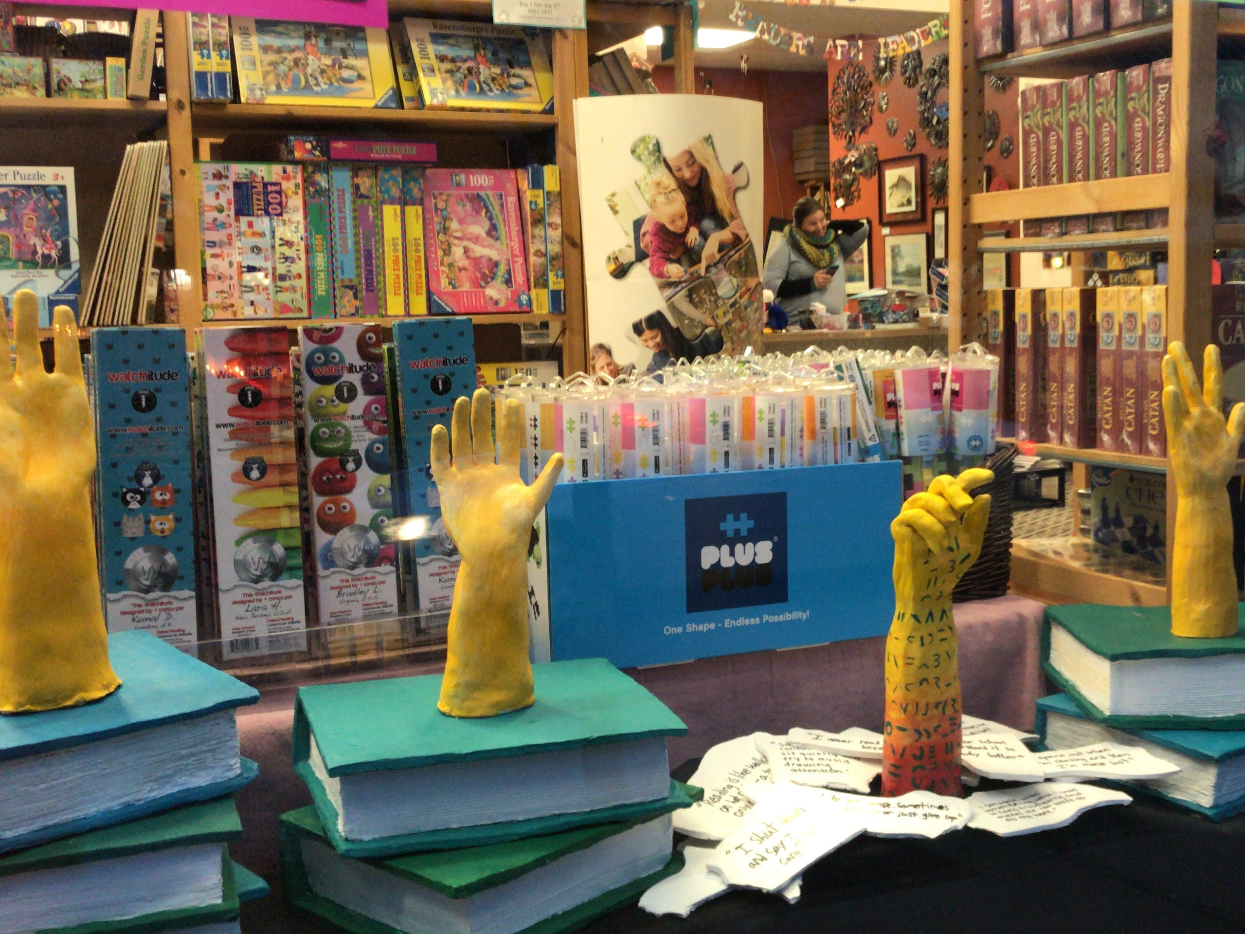 In association with Raising Hands Tutoring, a ceramics display by Highland Park High School students can be seen at Over the Moon in Highland Park.