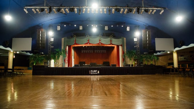 The Surf Ballroom's stage and dance floor on Tuesday, Jan. 15, 2019, in Clear Lake.