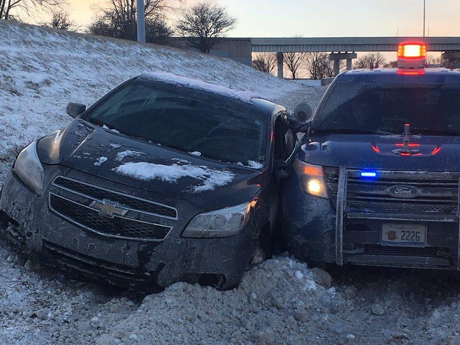 MSP: Driver high on marijuana sidewipes patrol car responding to crash on I-75