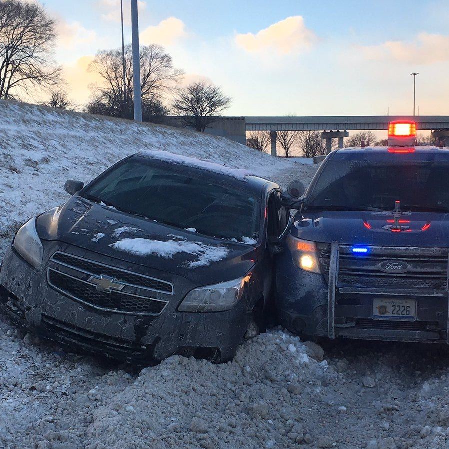 MSP: Driver high on marijuana sidewipes patrol car responding to crash on I-75