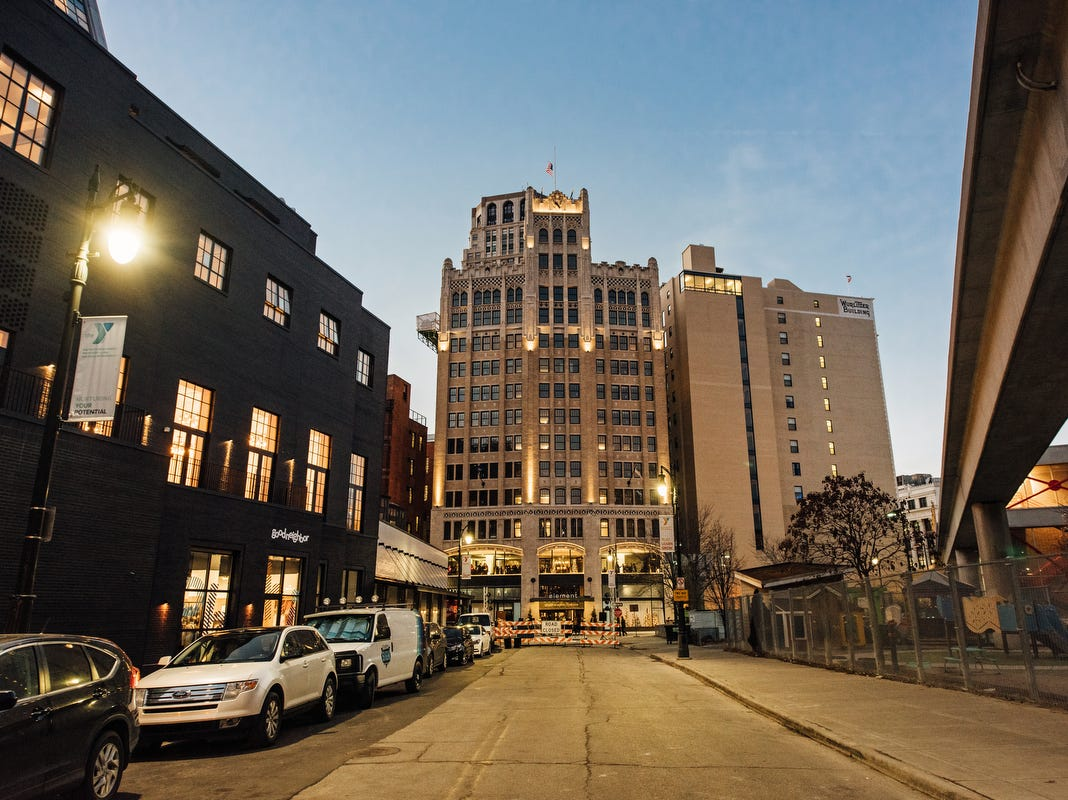 Long-vacant building reopens in downtown Detroit as Element hotel