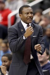 Pistons coach Dwane Casey during the second half on Monday, Jan. 21, 2019, in Washington.