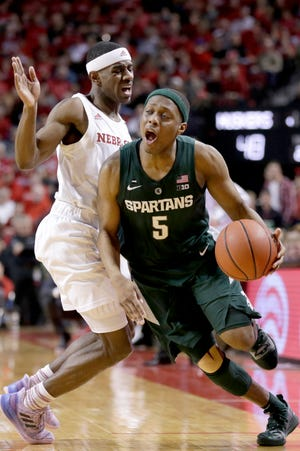 Cassius Winston scored 29 in Michigan State's 70-64 victory last week at Nebraska, helping him earn Big Ten Player of the Week honors.