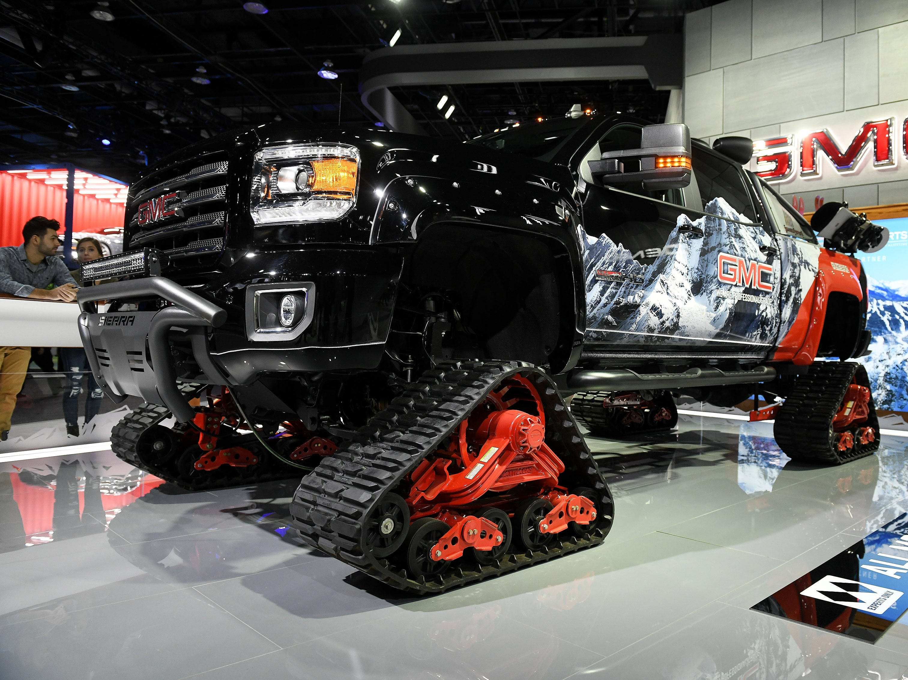 The All Mountain GMC Sierra at the North American International Auto Show.
