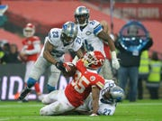 The Lions squared off against the Kansas City Chiefs in a 2015 game at Wembley Stadium in London.