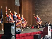 Dancers from Nadanta, a Farmington Hills-based nonprofit focused on Indian culture, perform during the Dr. Martin Luther King, Jr. Holiday Peace Walk Celebration on Monday, Jan. 21, 2019, at the Southfield Pavilion.